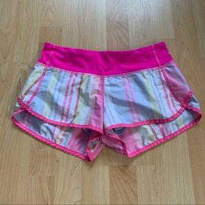 Pink Striped Lululemon Shorts